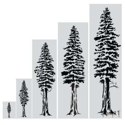 48 in. Redwood Tree Stencil