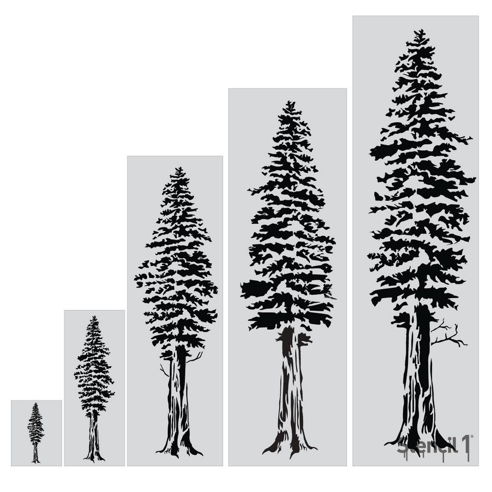 It is an image of Crazy Tree Stencil Printable