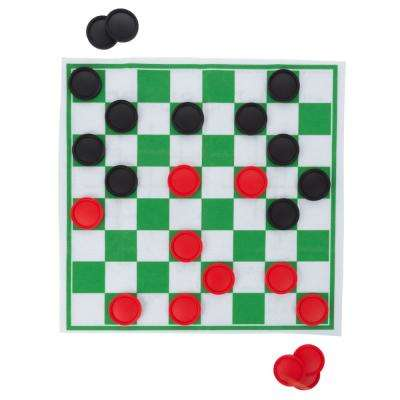 Checkers and Tic Tac Toe Jumbo Rug