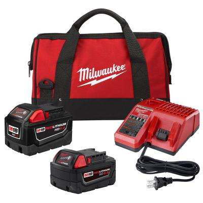 M18 18-Volt Lithium-Ion Starter Kit with One 9.0 Ah Battery and One 5.0 Ah Battery and Charger