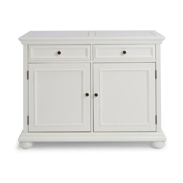 Dover White Quartz Top Kitchen Island