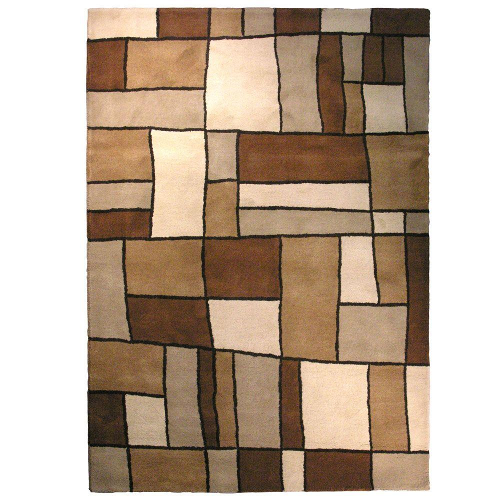 Lanart Picasso Brown 6 ft. x 9 ft. Area Rug