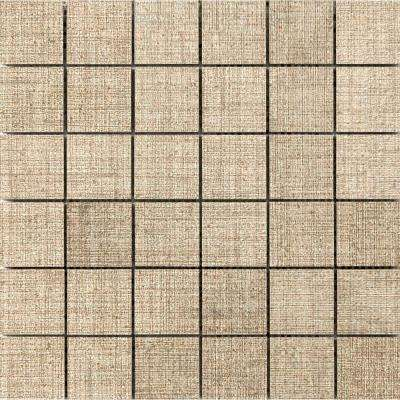 Canvas Linen 11.81 in. x 11.81 in. x 9mm Porcelain Mesh-Mounted Mosaic Tile (0.97 sq. ft.)