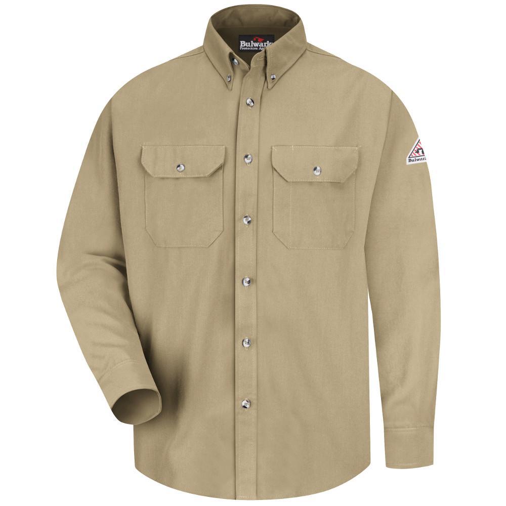 CoolTouch Men's Medium (Tall) Khaki Dress Uniform Shirt
