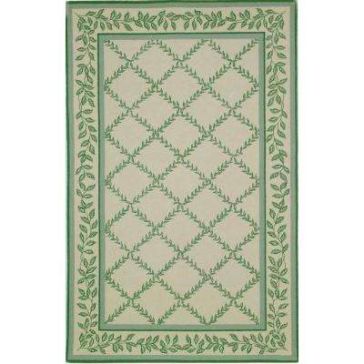Chelsea Ivory/Light Green 5 ft. 3 in. x 8 ft. 3 in. Area Rug