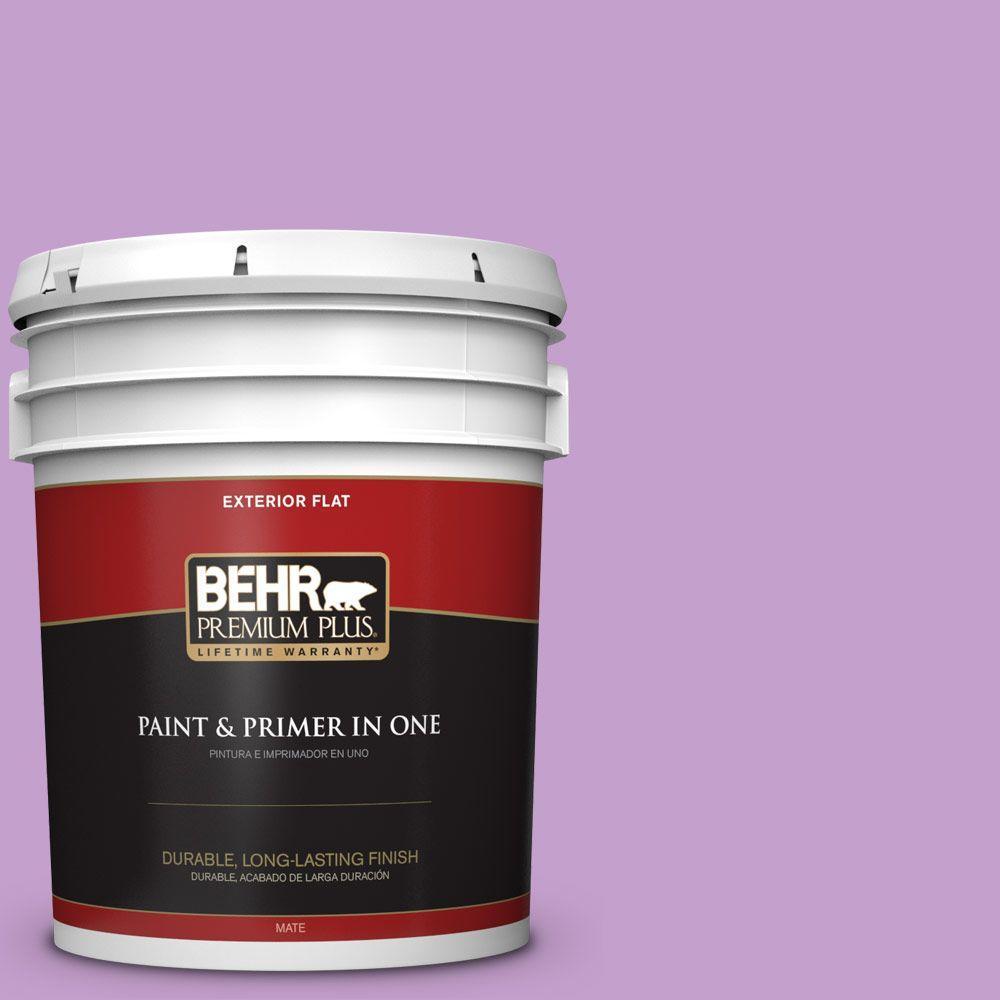 BEHR Premium Plus 5-gal. #P100-4 Lover's Knot Flat Exterior Paint