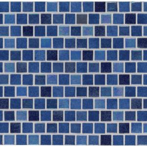 Abolos New Era Beach Sand Blue Mosaic 1 In X 1 In Glossy Glass Mesh Mounted Wall Pool And Floor Tile 1 09 Sq Ft Hmdner0101 Bs The Home Depot