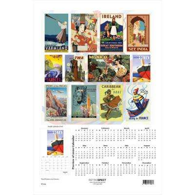 19 in. x 12.5 in. Travel Posters - 2019 Calendar