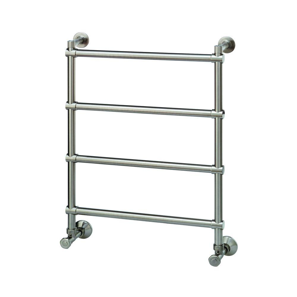 H542 Wall Mounted 4-Bar Electric Towel Warmer in Brushed Nickel