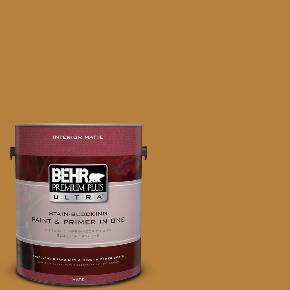 BEHR Premium Plus Ultra 1 gal. #S-H-330 Honeysuckle Blast Flat/Matte Interior Paint