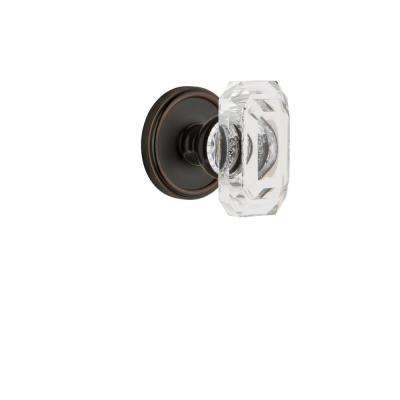 Georgetown Rosette Double Dummy with Baguette Crystal Timeless Bronze Door Knob