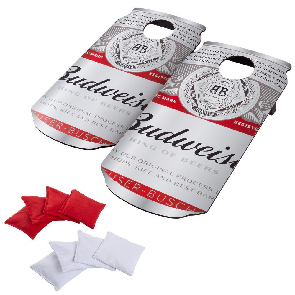 Trademark Games Budweiser Can Cornhole Bean Bag Toss Game