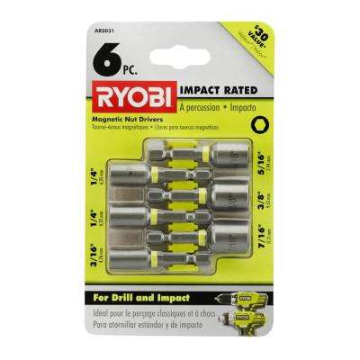Impact Rated Magnetic Nut Driver Set (6-Piece)