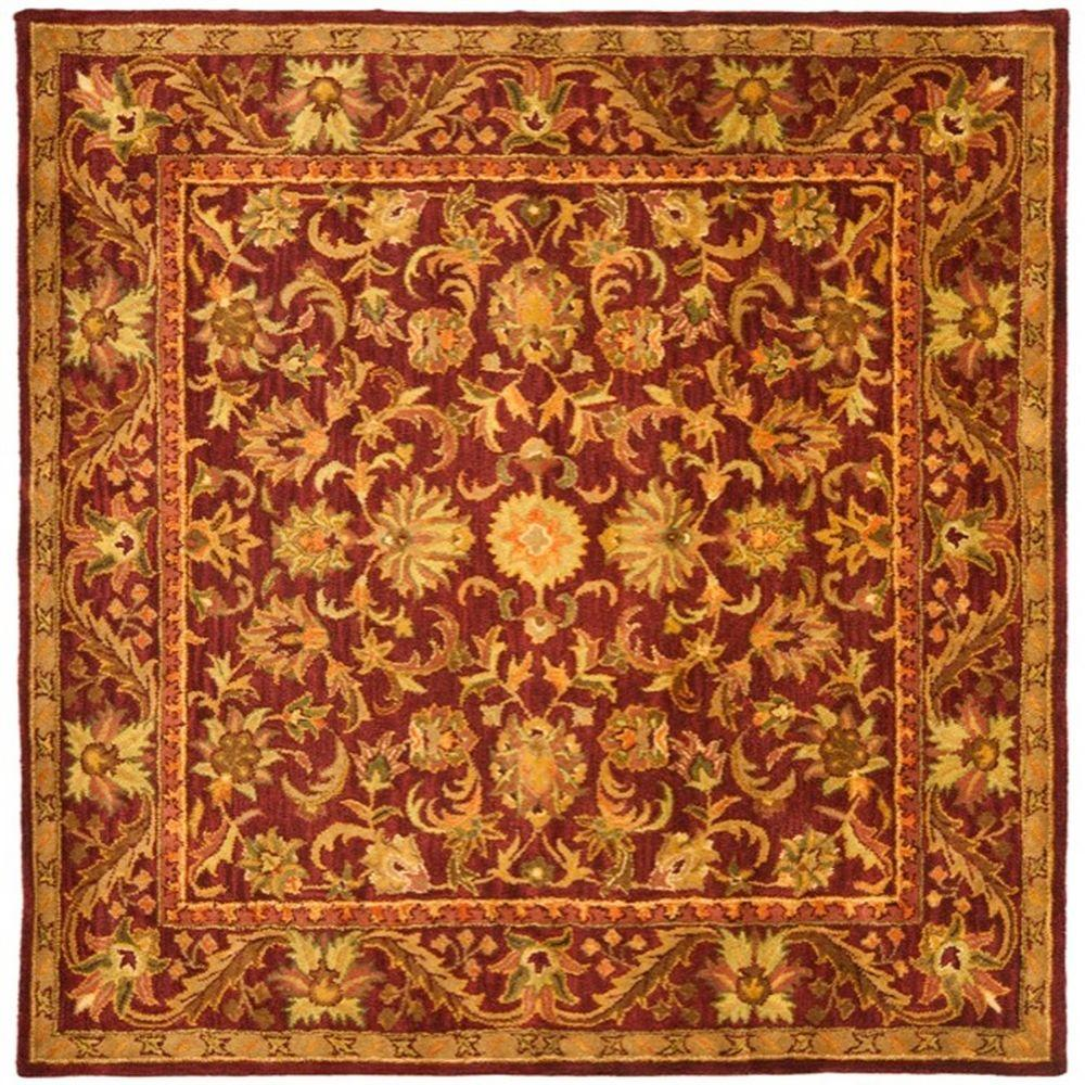 Safavieh Antiquity Wine/Gold 8 ft. x 8 ft. Square Area Rug