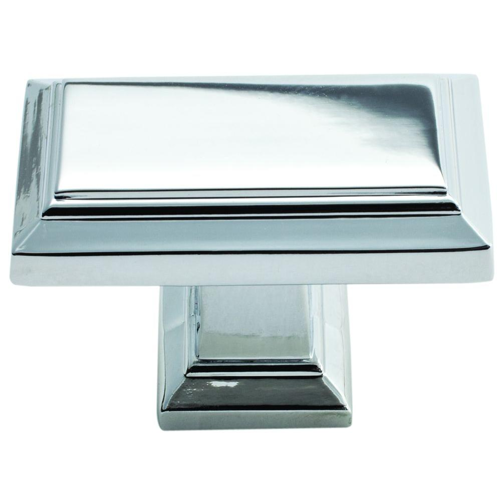 Rectangle - Chrome - Cabinet Knobs - Cabinet Hardware - The Home Depot