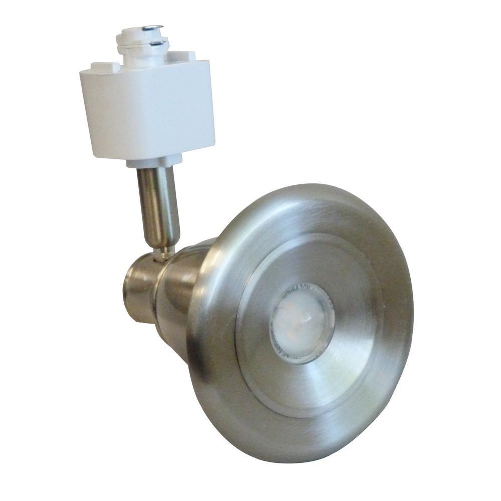Berlin 1-Light Satin Nickel Integrated LED Track Lighting Head