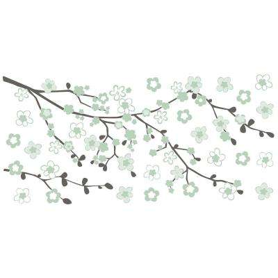 24 in. x 11.8 in. Cherry Blossom Wall Sticker