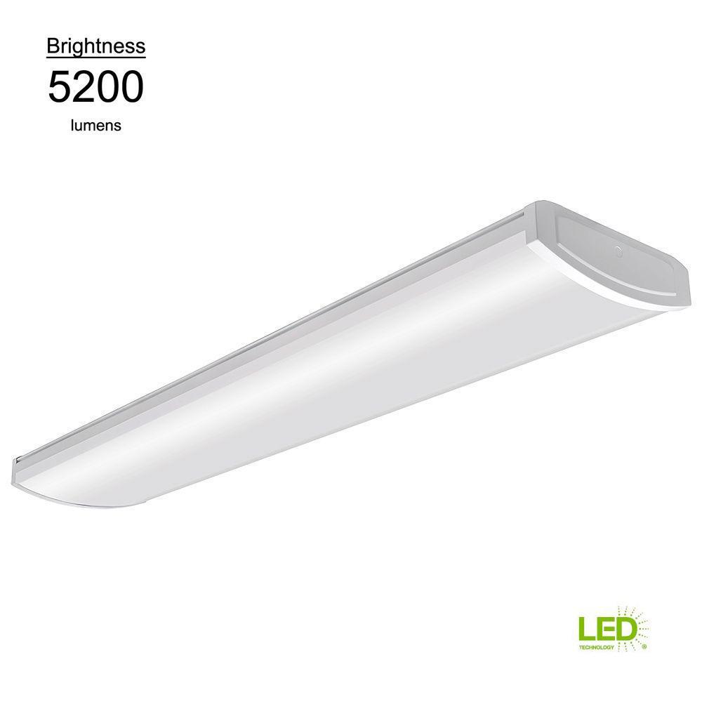 commercial electric 4 ft white led high output wrap 58 watt 5200 rh homedepot com LED Floodlight Wiring-Diagram LED Lamp Wiring Diagram