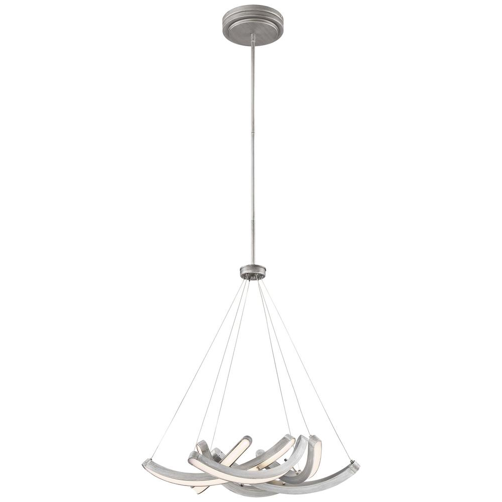 Swing Time 100-Watt Equivalence Brushed Silver Integrated LED Pendant