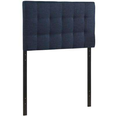 Lily Navy Twin Upholstered Fabric Headboard