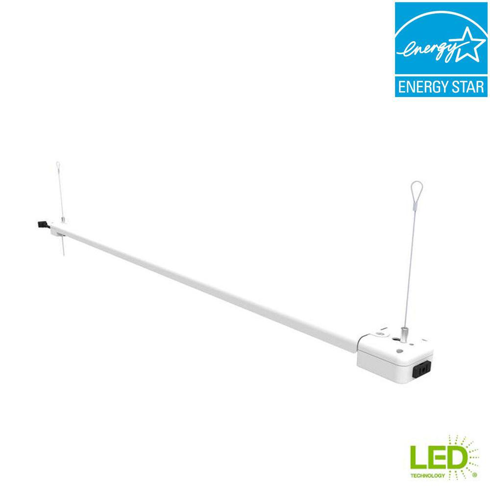 Commercial Electric 4 Ft. 1-Light 30-Watt White Integrated