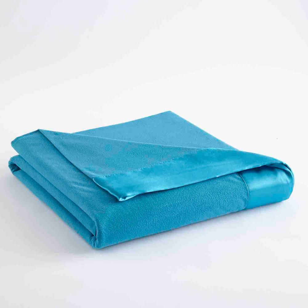 Full Queen Teal Year Round Polyester Sheet Blanket