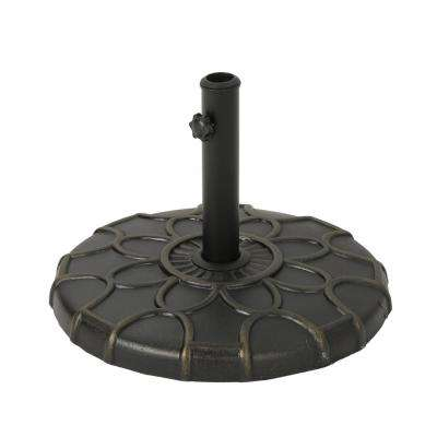 Caruso 37.57 lbs. Concrete Patio Umbrella Base in Bronze