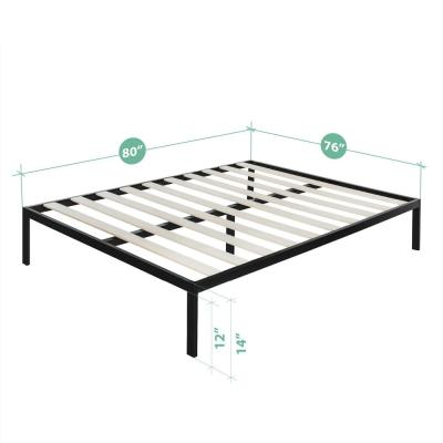 Mia Modern Studio 14 Inch Platform 1500 Metal Bed Frame, Mattress Foundation, King