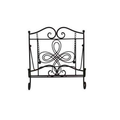 Scroll Work Design Gray Metal Cook Book Stand
