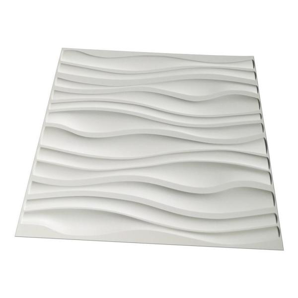 Art3d 19 7 In X 19 7 In Decorative Pvc 3d Wall Panels Wavy Wall Design 12 Pack A10037 The Home Depot
