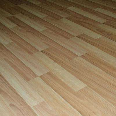 Natural Eucalyptus 8 mm Thick x 7.72 in. Wide x 48 in. Length Click-Locking Laminate Flooring Plank (20.51 sq.ft./case)