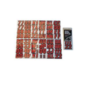 2 inch Factory Matched Snowmobile Registration Kits in Red/Black by