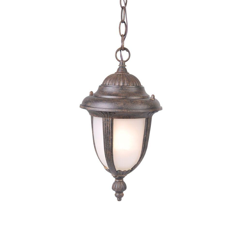 Acclaim Lighting Monterey Collection Hanging Lantern 1-Light Outdoor Black Coral Light Fixture