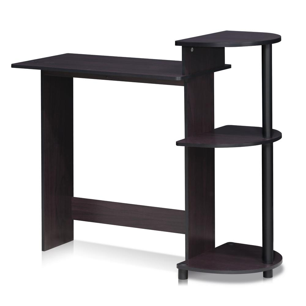 Furinno Compact Dark Walnut Computer Desk