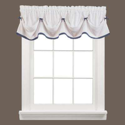 Kate 13 in. L Polyester Valance in Blue