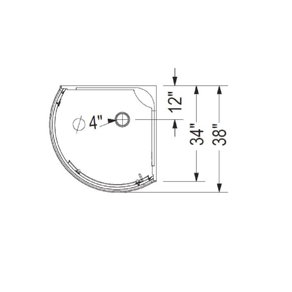 shower stall schematic maax cyrene 34 in x 76 in off center corner shower kit w semi  maax cyrene 34 in x 76 in off center