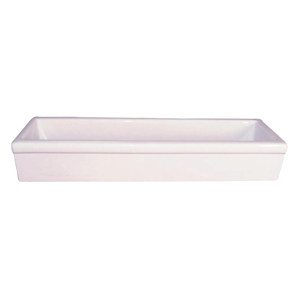 Barclay Products Trough Vessel Sink In White