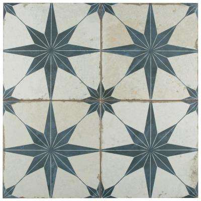 Kings Star Blue Encaustic 17-5/8 in. x 17-5/8 in. Ceramic Floor and Wall Tile (11.1 sq. ft. / case)