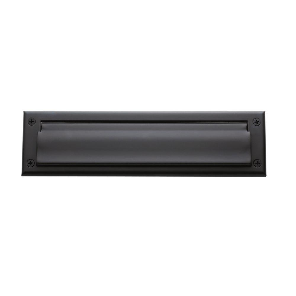 Baldwin Oil-Rubbed Bronze Magazine Size Hinged Letter Box Plate