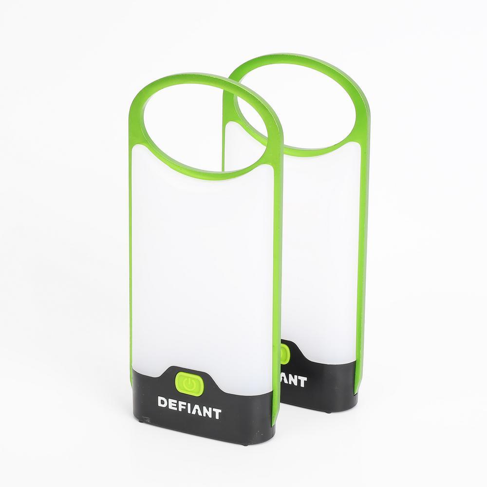 150 Lumens LED Ultra-thin Lantern in Green (2-Pack)