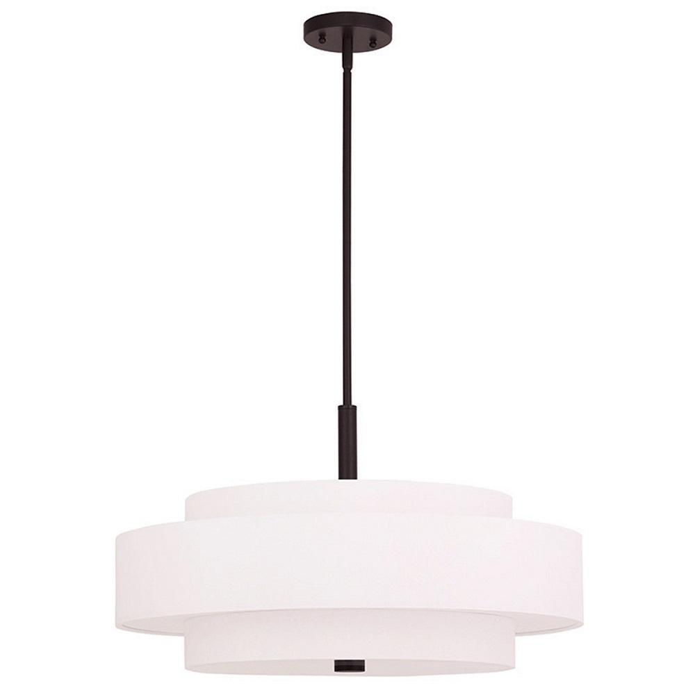 drum lighting pendant. Livex Lighting Meridian 5-Light Bronze Pendant Drum