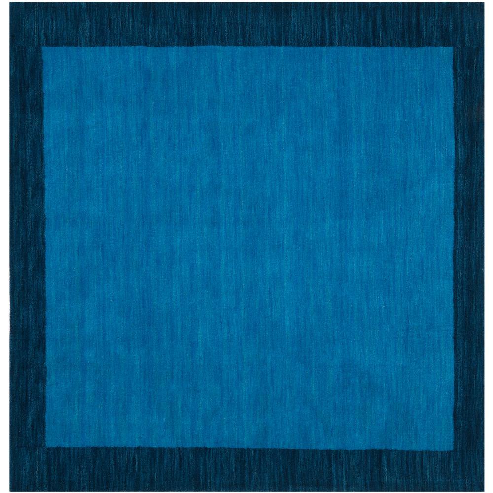 Himalaya Light Blue/Dark Blue 8 ft. x 8 ft. Square Area Rug