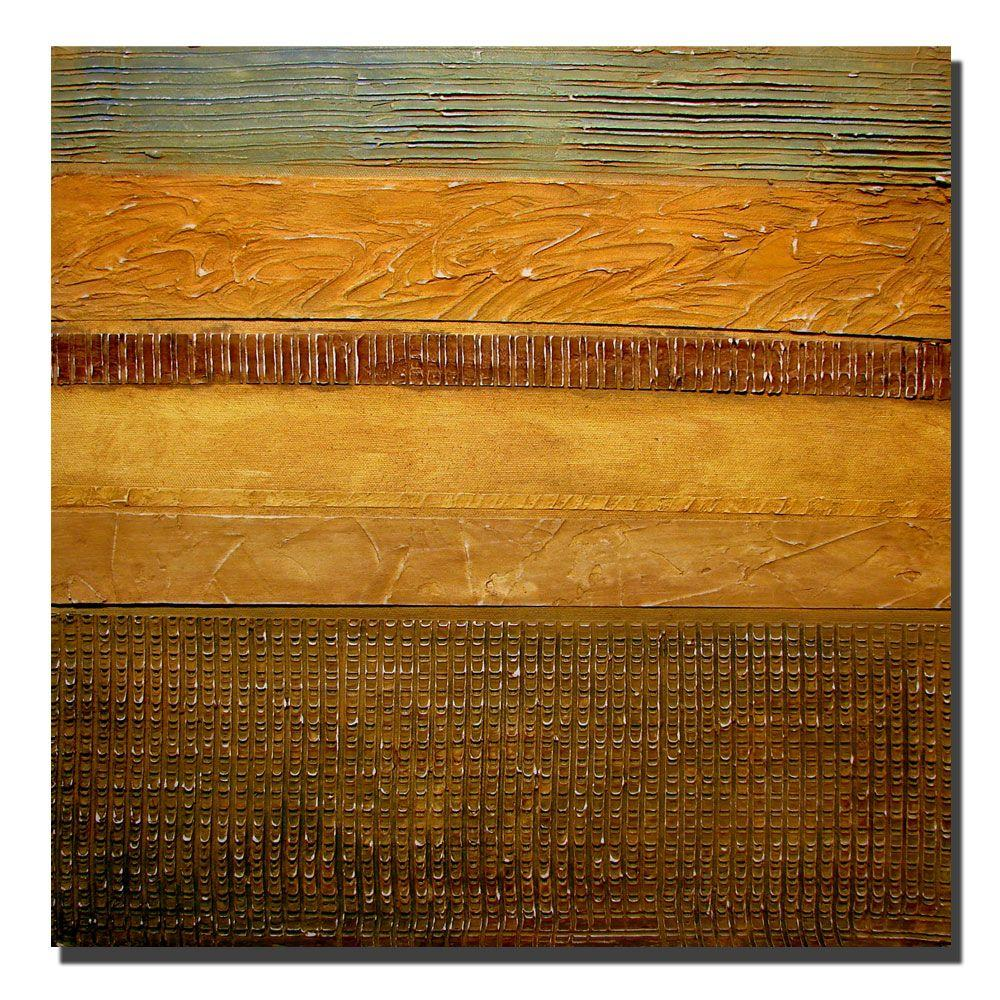 24 in. x 24 in. Earth Layers Abstract I Canvas Art
