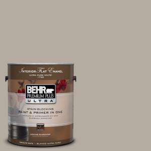 1 gal. #UL260-8 Perfect Taupe Matte Interior Paint and Primer in One