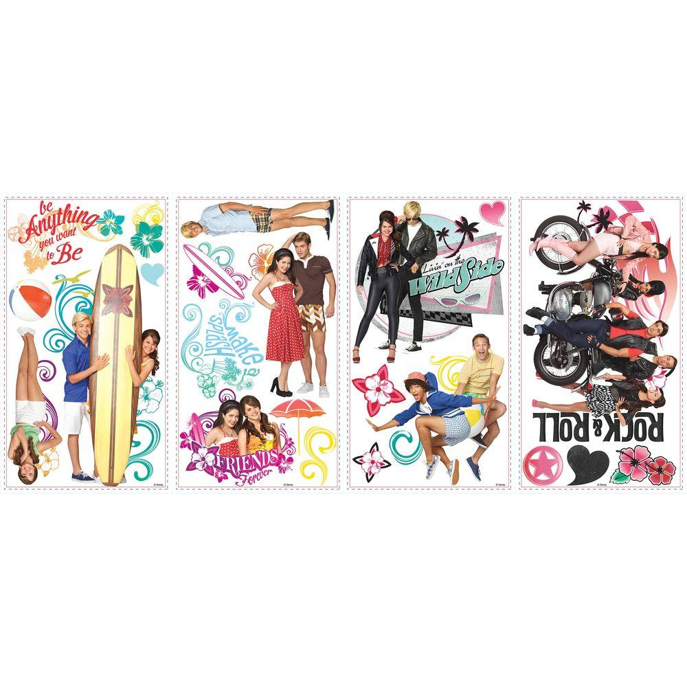null 5 in. x 11.5 in. Teen Beach Movie Peel and Stick Wall Decals