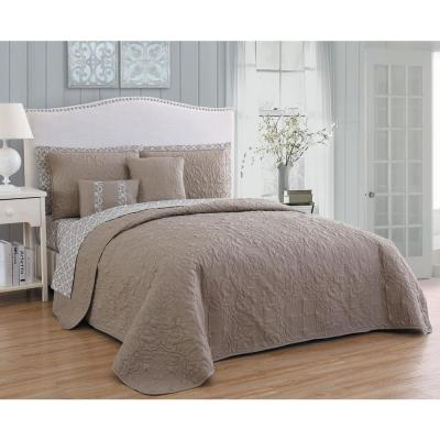Melbourne 9-Piece Taupe Queen Quilt Set