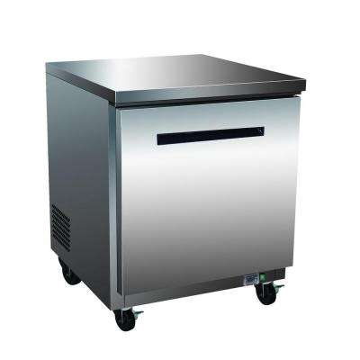 X-Series 7.0 cu. ft. Single Door Undercounter Commercial Refrigerator in Stainless Steel