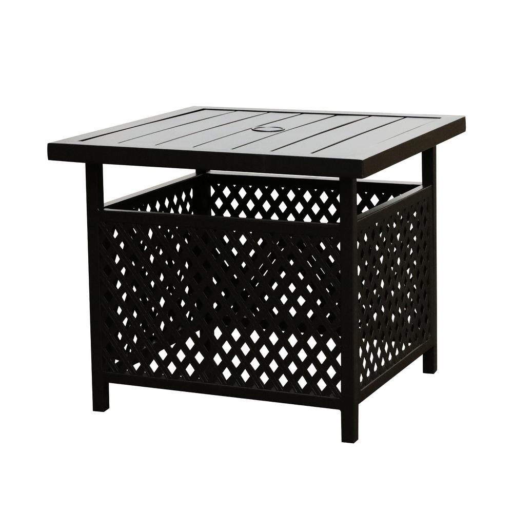 Patio Festival Square Metal Outdoor Coffee Table Pf19270