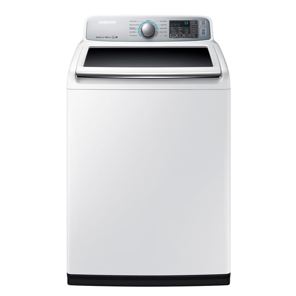 Samsung 5.0 cu. ft. High-Efficiency Top Load Washer in White, ENERGY STAR