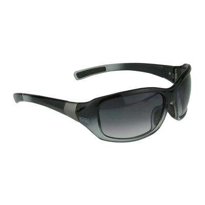Black Frame Smoke Gradient Lens Full Frame Fashion Safety Glasses